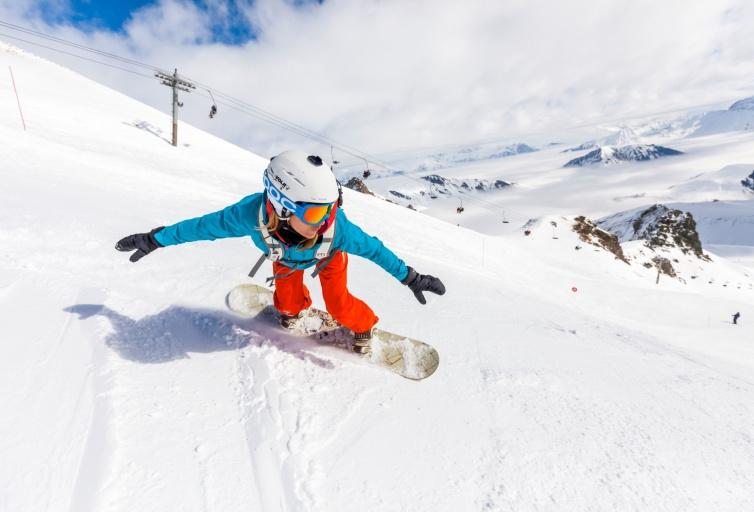 Domaine des Sybelles en Snowboard
