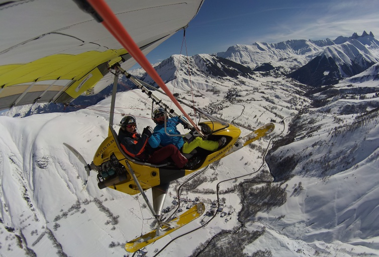 Microlight flights - Les Sybelles