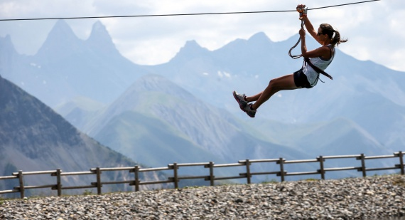 New zip line at La Toussuire