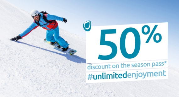Season pass at a 50% discount #Unlimited pleasures