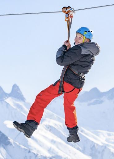 Tyrolienne - La Toussuire